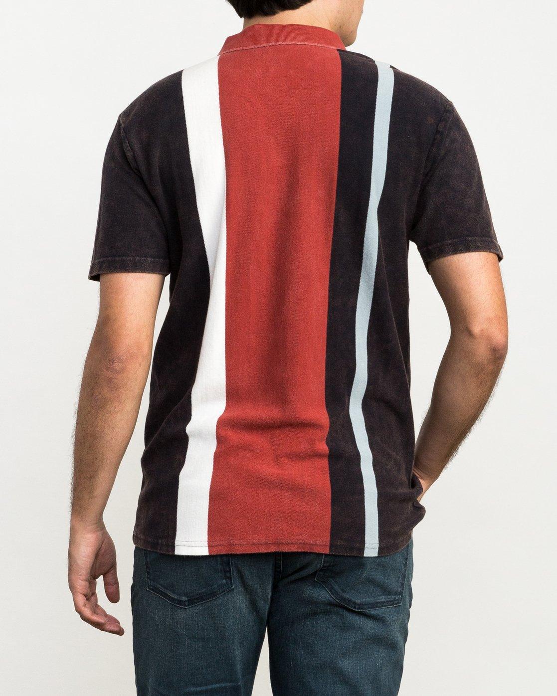 3 Remastered Printed Polo Shirt Grey M903QRRP RVCA