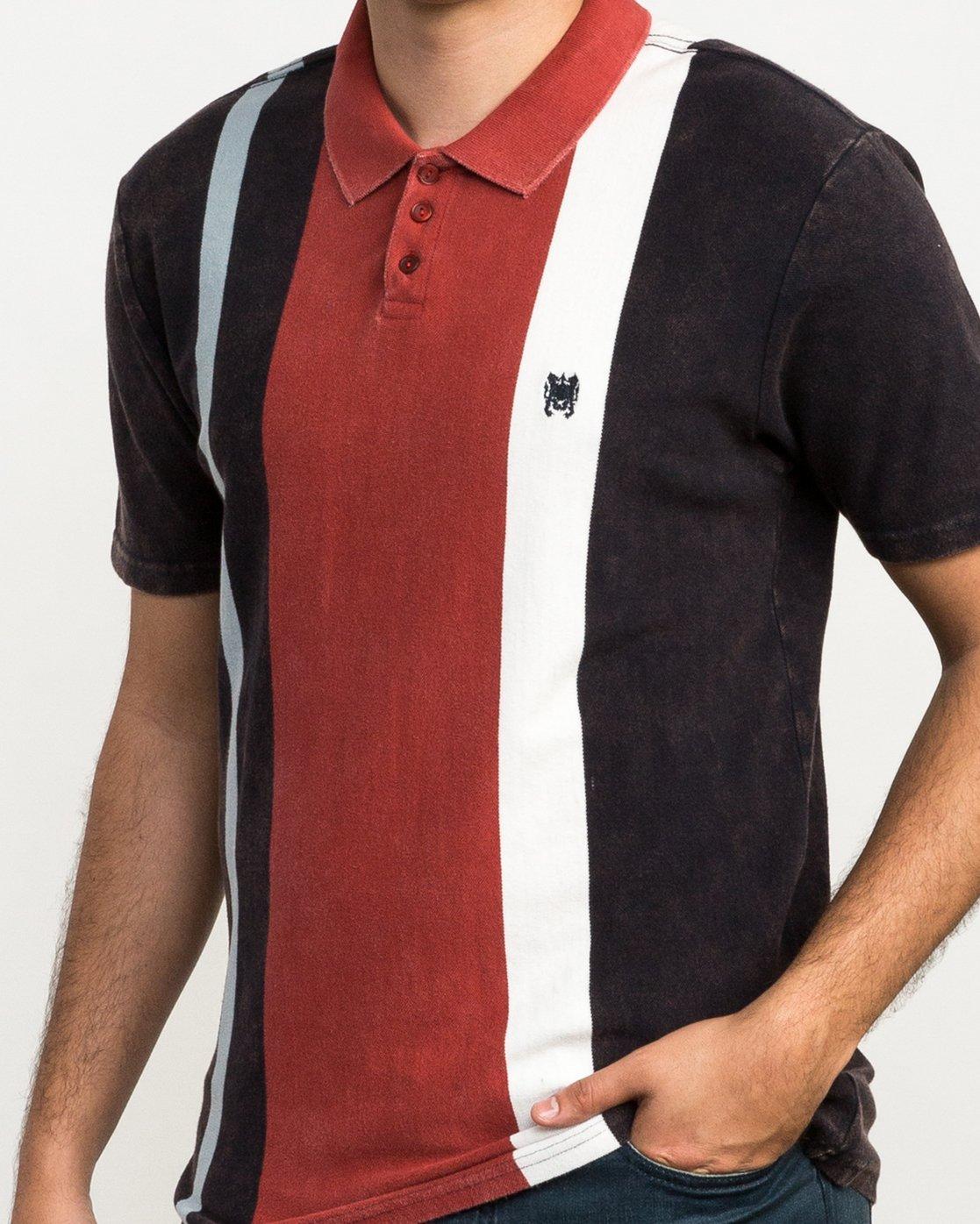 4 Remastered Printed Polo Shirt Grey M903QRRP RVCA