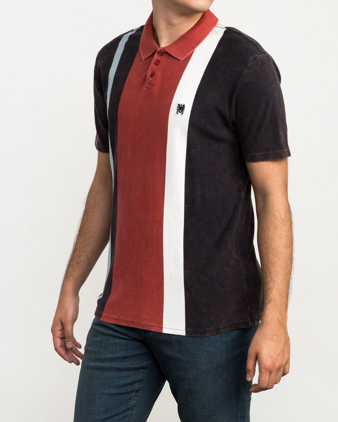 2 Remastered Printed Polo Shirt Grey M903QRRP RVCA