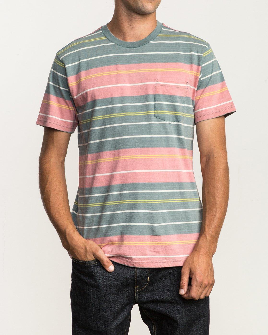 1 Rusholme Striped T-Shirt  M903SRRS RVCA