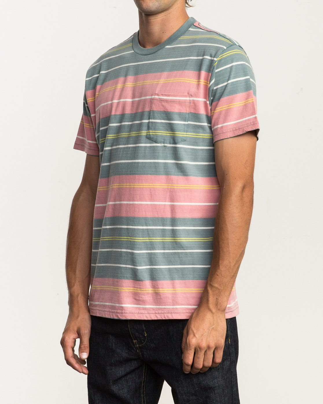 2 Rusholme Striped T-Shirt  M903SRRS RVCA
