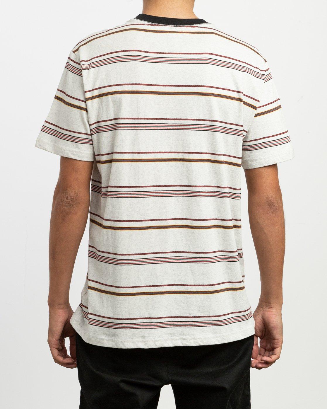 2 Avila Striped Knit T-Shirt  M903TRAS RVCA
