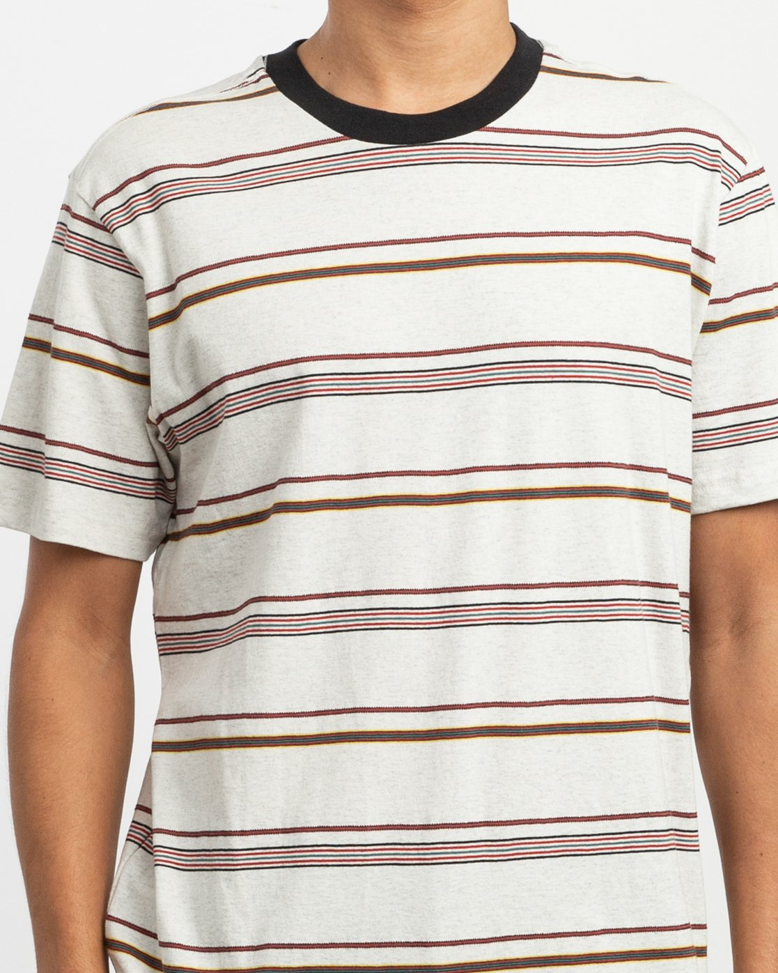 3 Avila Striped Knit T-Shirt  M903TRAS RVCA