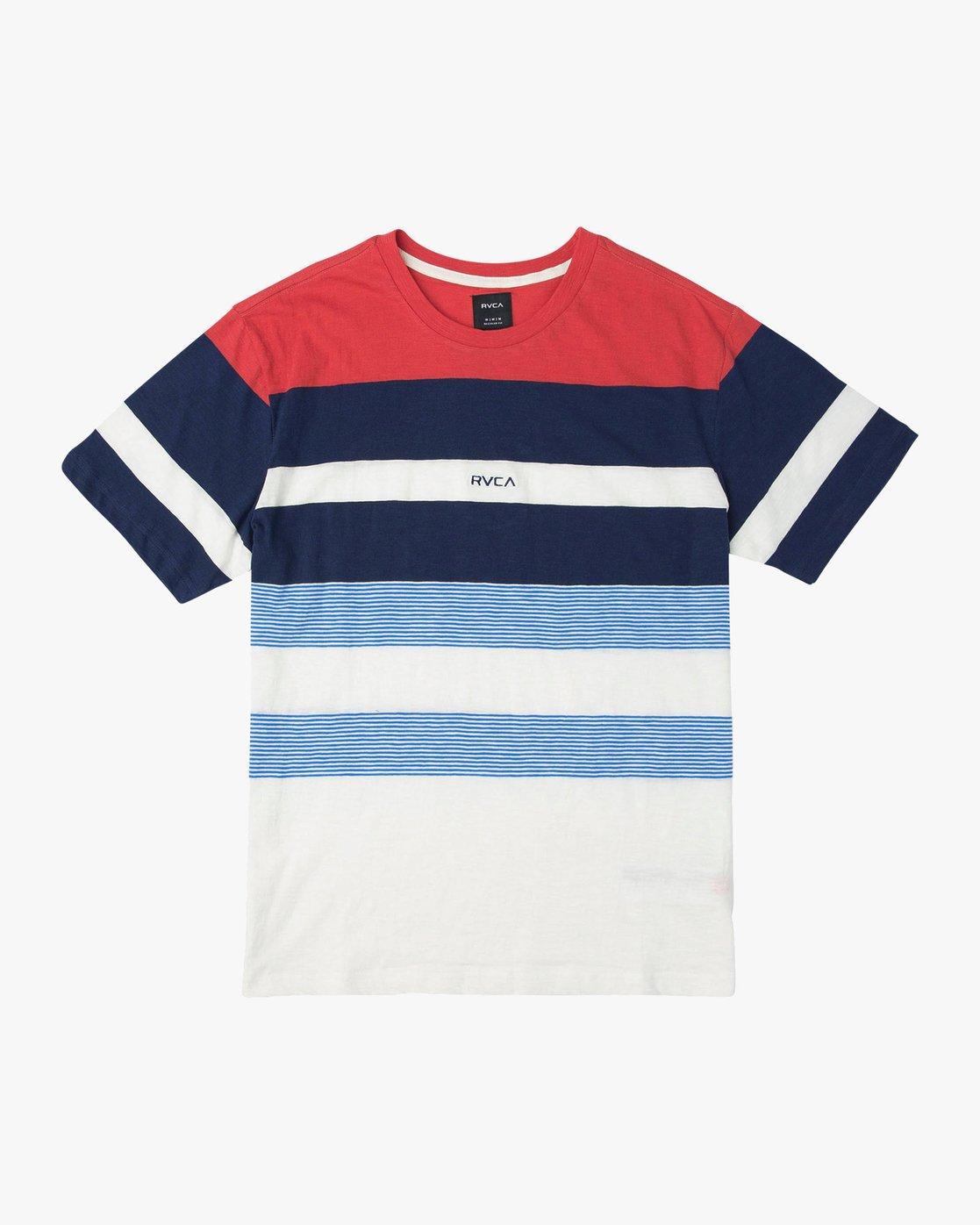 0 Courtside Crew Knit Shirt Red M903URCC RVCA