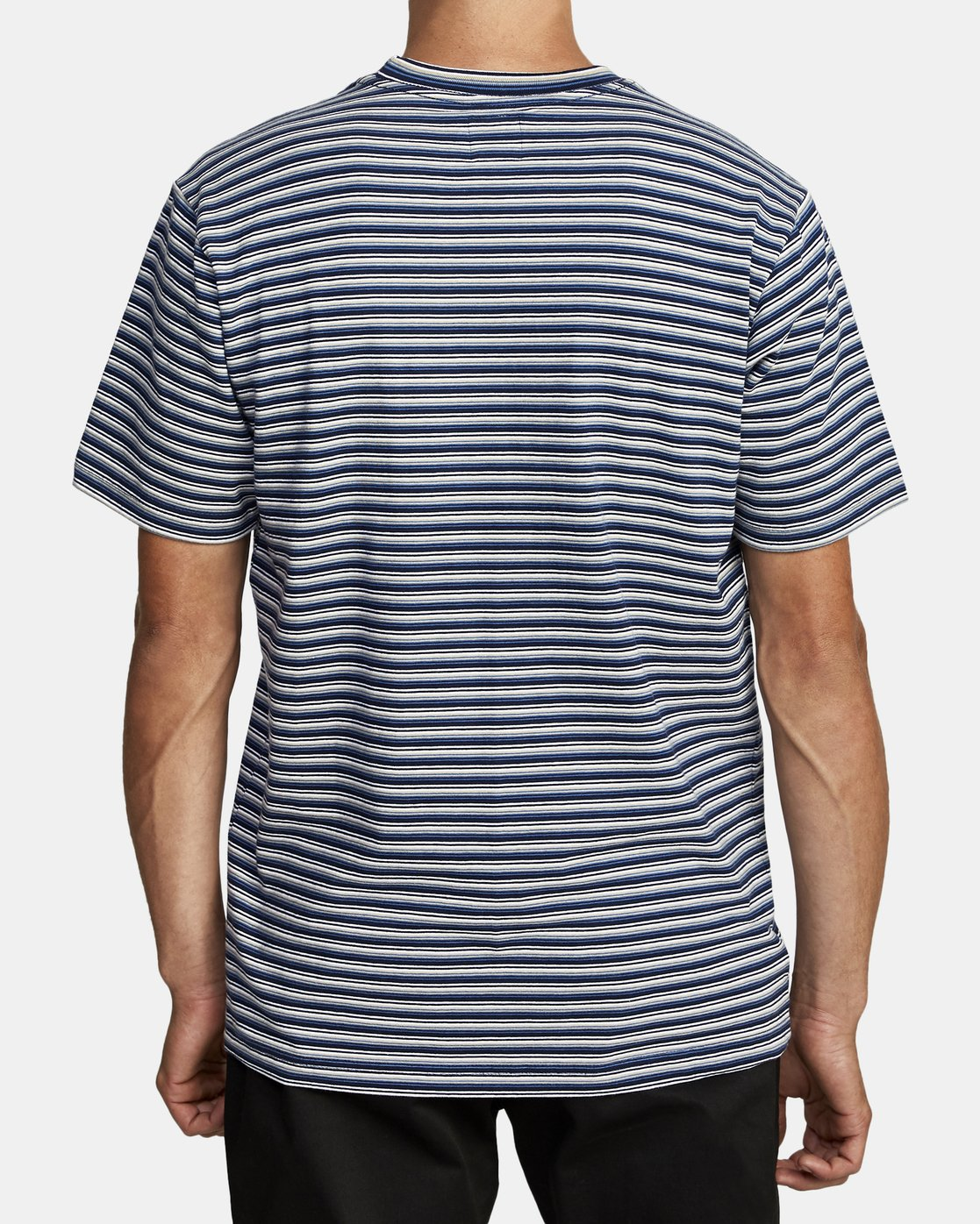 6 DOWNLINE STRIPE SHORT SLEEVE T-SHIRT Blue M9042RDL RVCA