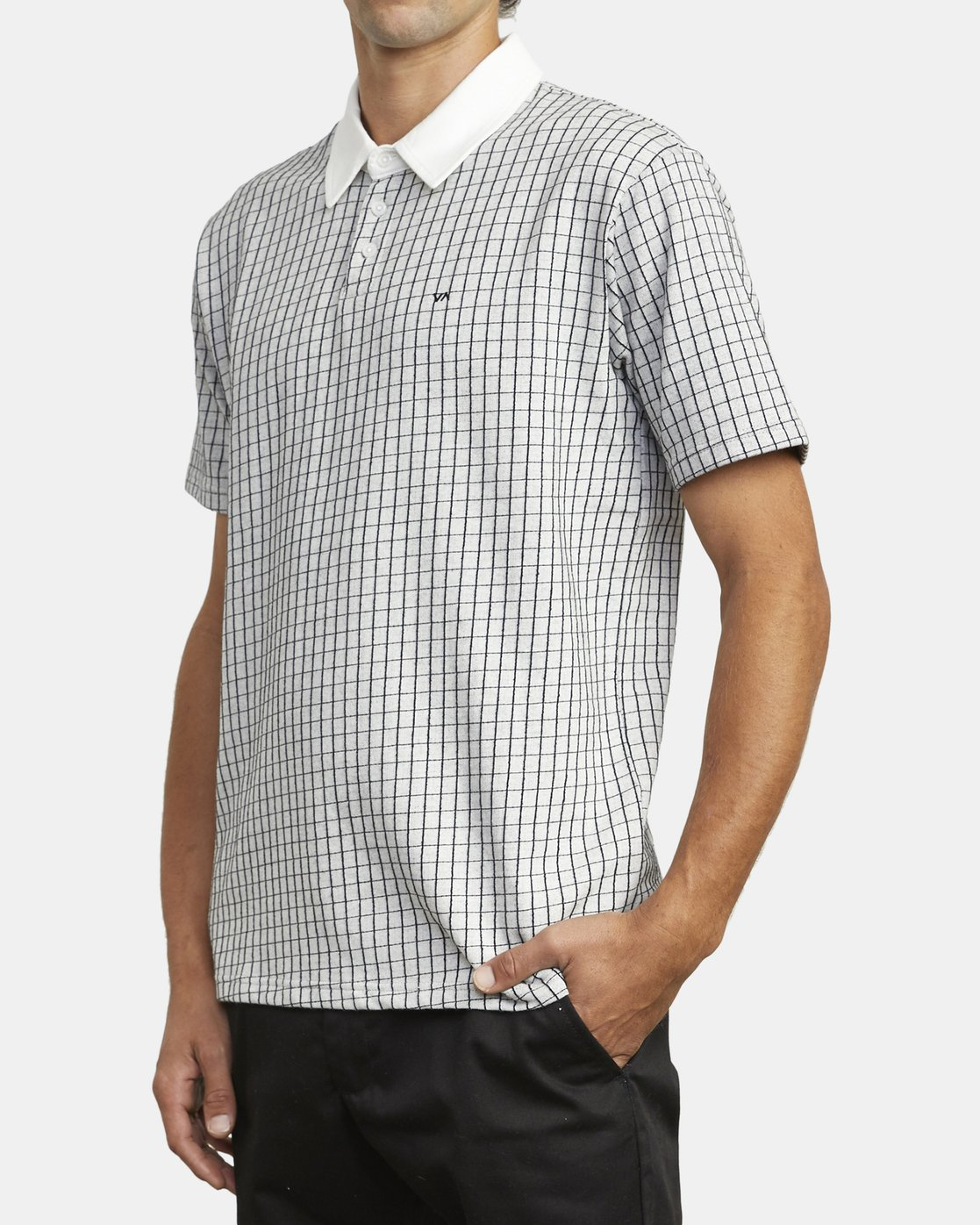 2 FREEMAN SHORT SLEEVE KNIT POLO White M9043RFP RVCA
