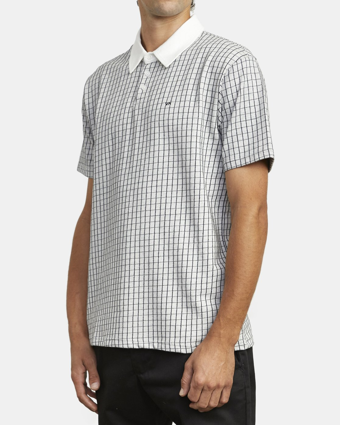 3 FREEMAN SHORT SLEEVE KNIT POLO White M9043RFP RVCA
