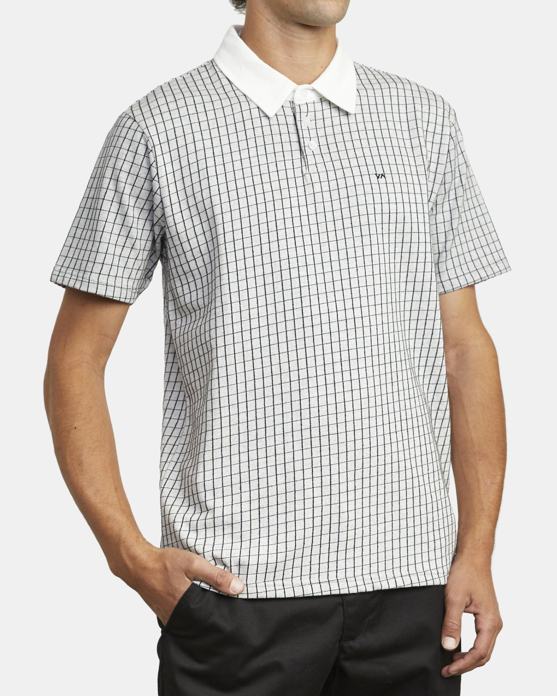 4 FREEMAN SHORT SLEEVE KNIT POLO White M9043RFP RVCA