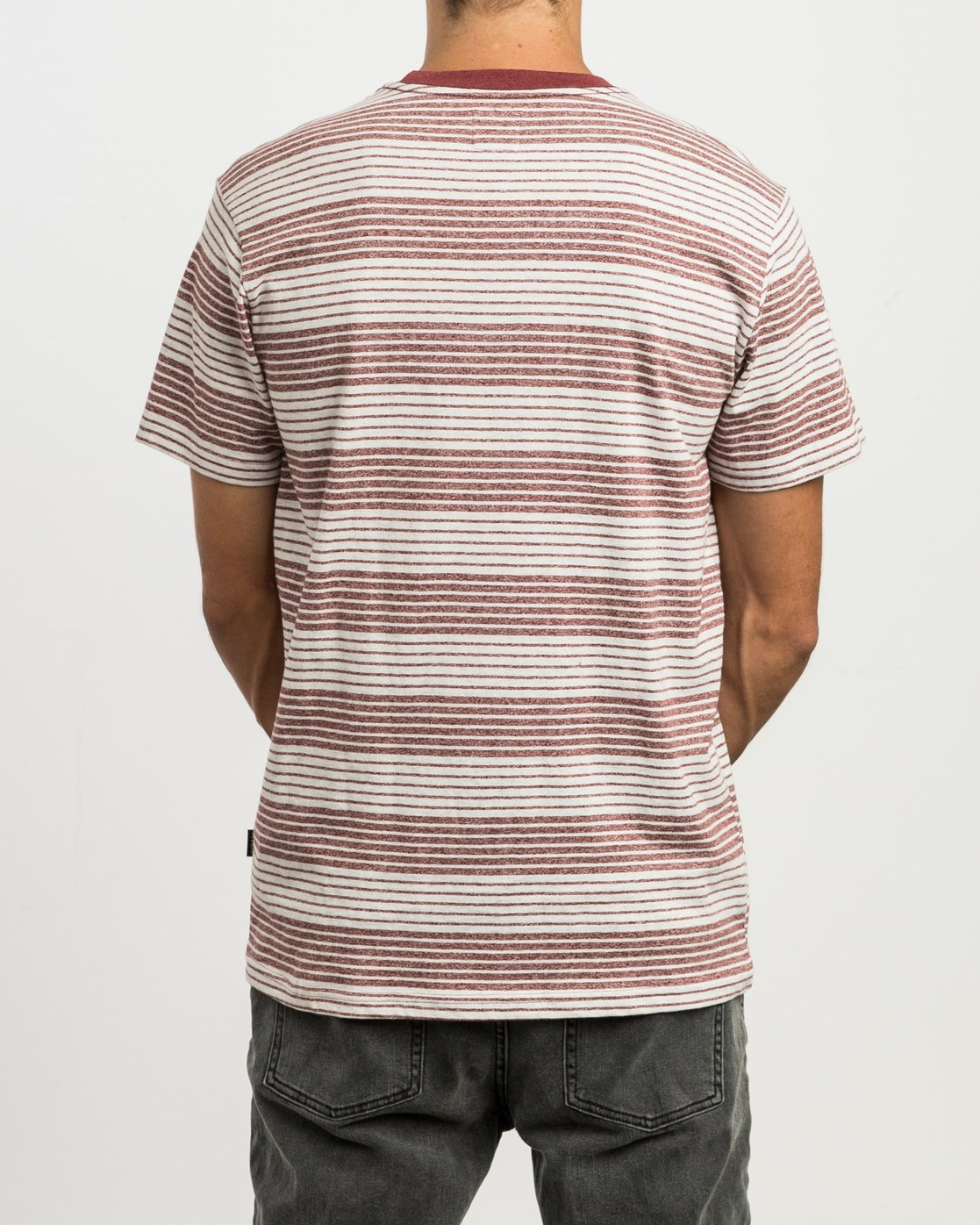 3 Longsight Striped T-Shirt Red M904SRLS RVCA