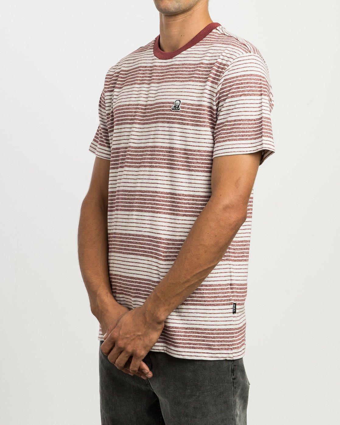 2 Longsight Striped T-Shirt Red M904SRLS RVCA