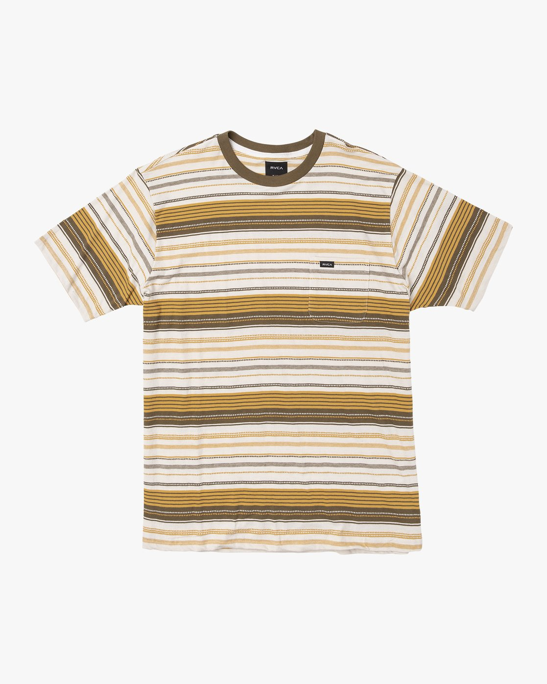 0 Deadbeat Stripe Knit T-Shirt Orange M904VRDS RVCA