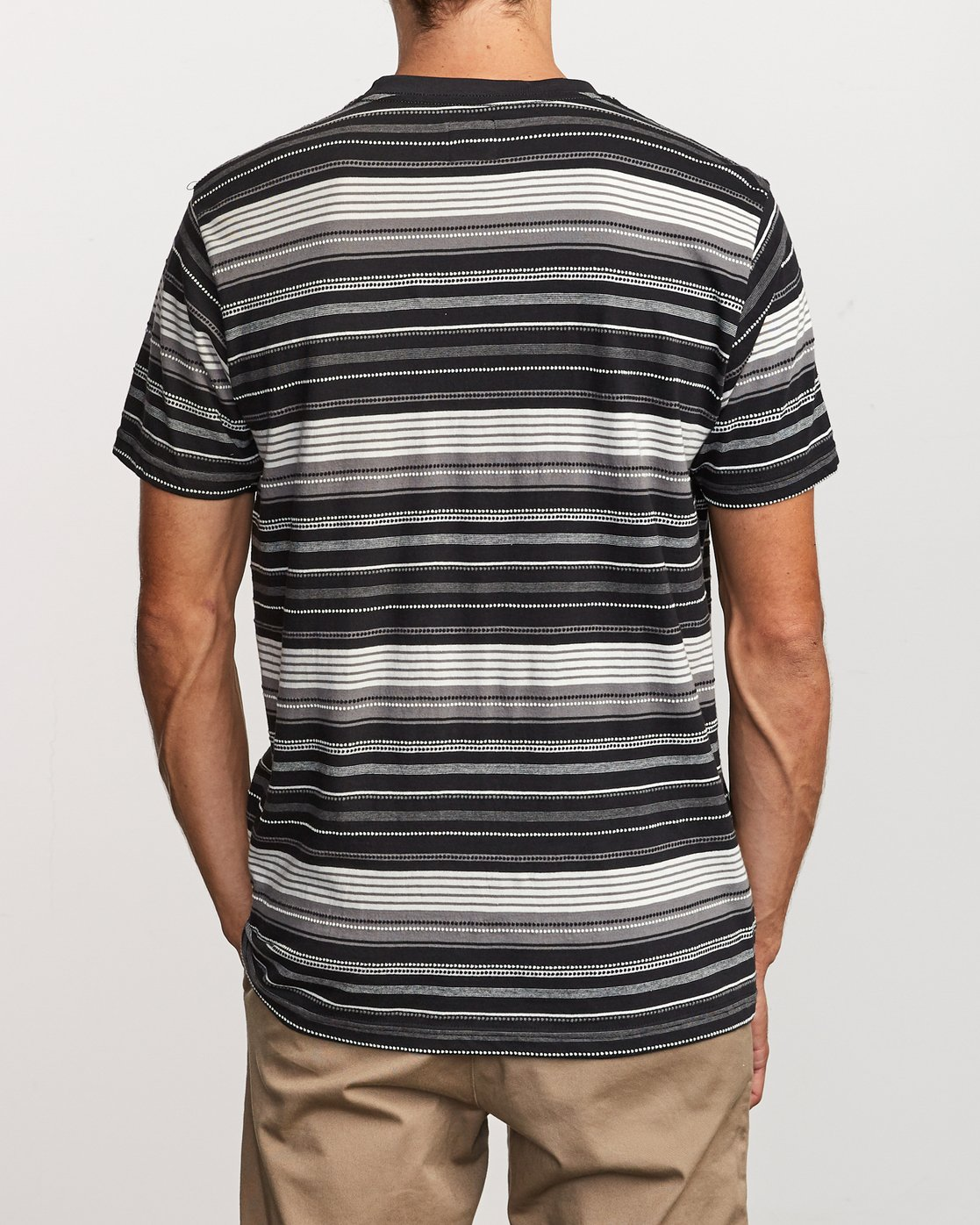 3 Deadbeat Stripe Knit T-Shirt Black M904VRDS RVCA