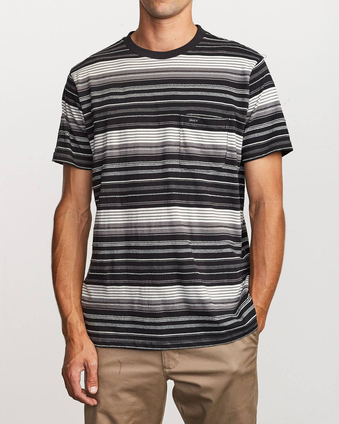 1 Deadbeat Stripe Knit T-Shirt Black M904VRDS RVCA