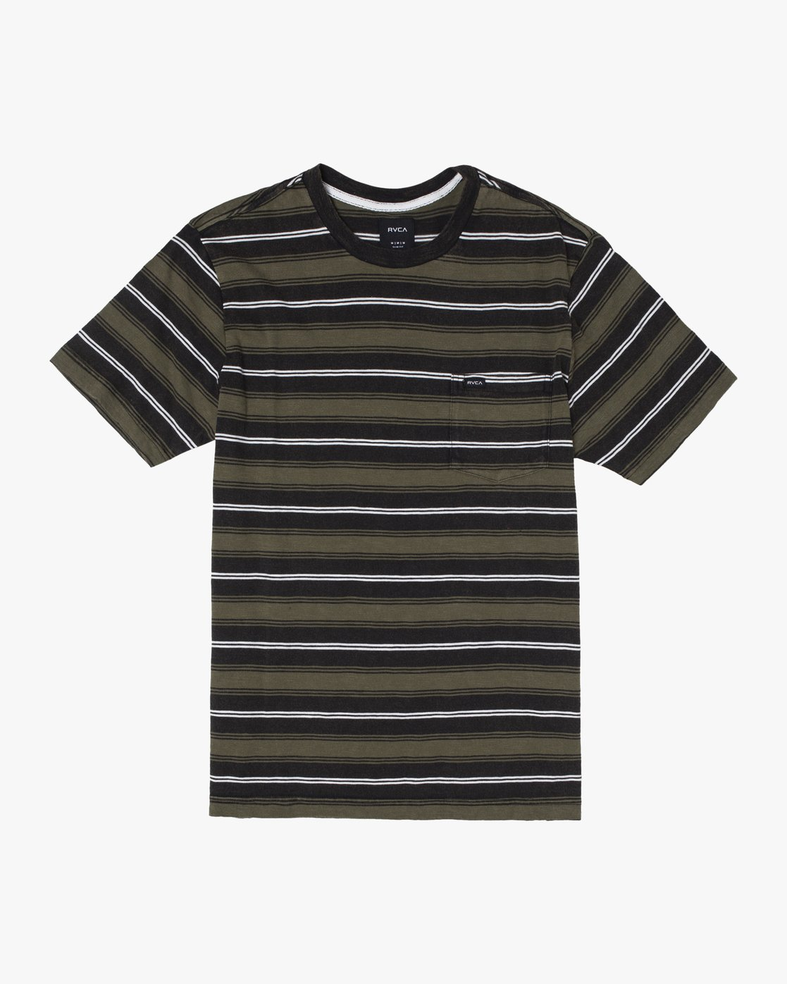 0 DAVIS STRIPE SHORT SLEEVE Knit Tee Black M9052RDS RVCA