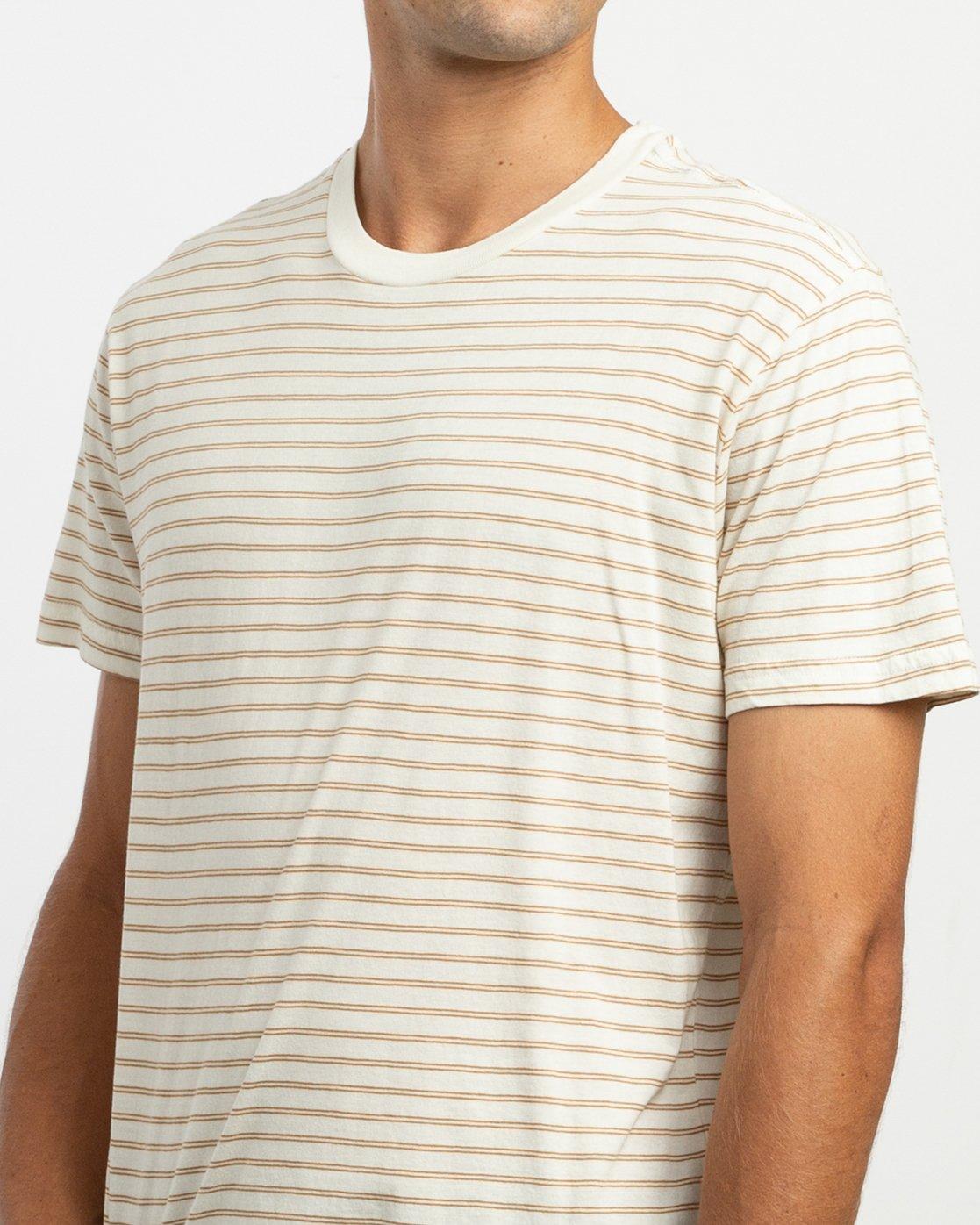 4 Automatic Stripe Knit Shirt Yellow M905TRCS RVCA