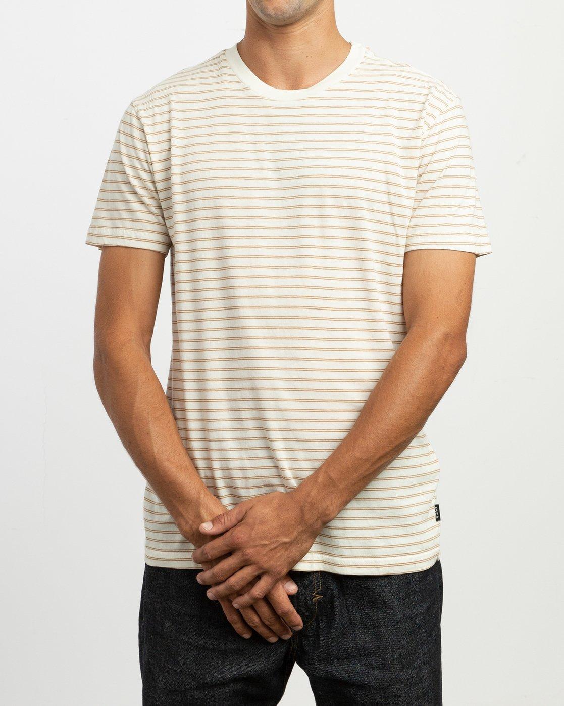 1 Automatic Stripe Knit Shirt Yellow M905TRCS RVCA