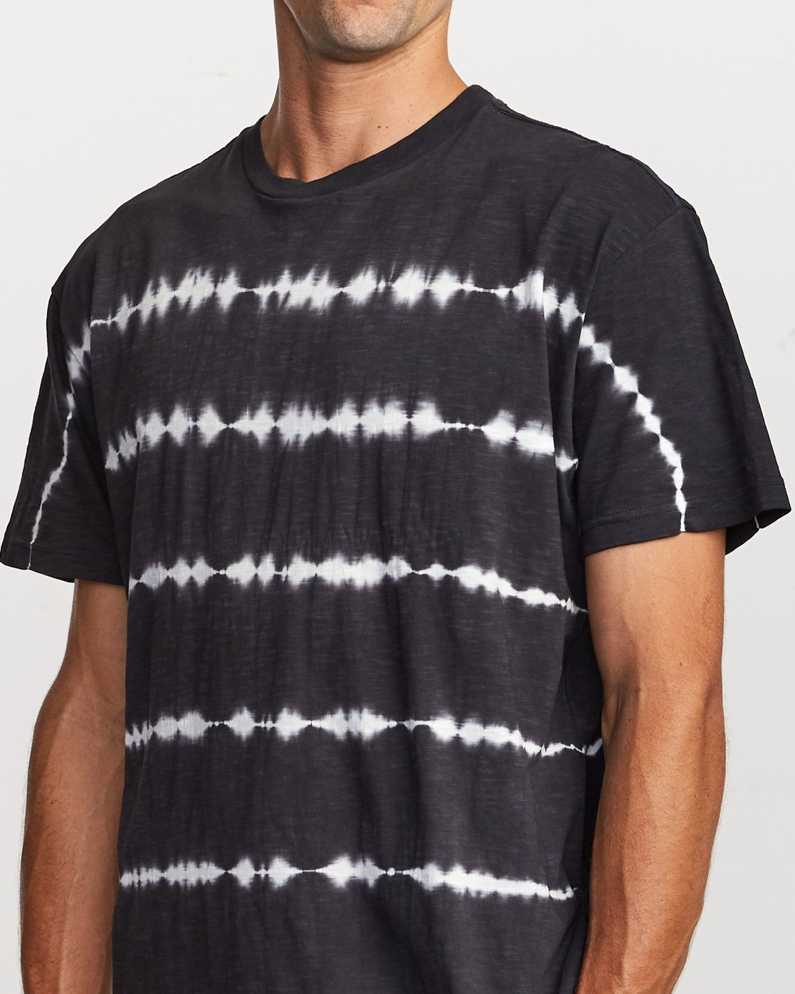 5 Rail Stripe Knit T-Shirt Black M905VRRS RVCA
