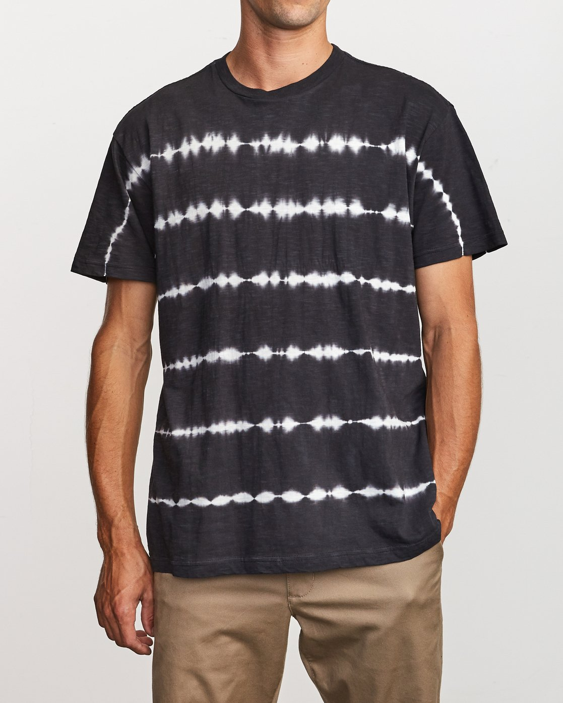 2 Rail Stripe Knit T-Shirt Black M905VRRS RVCA