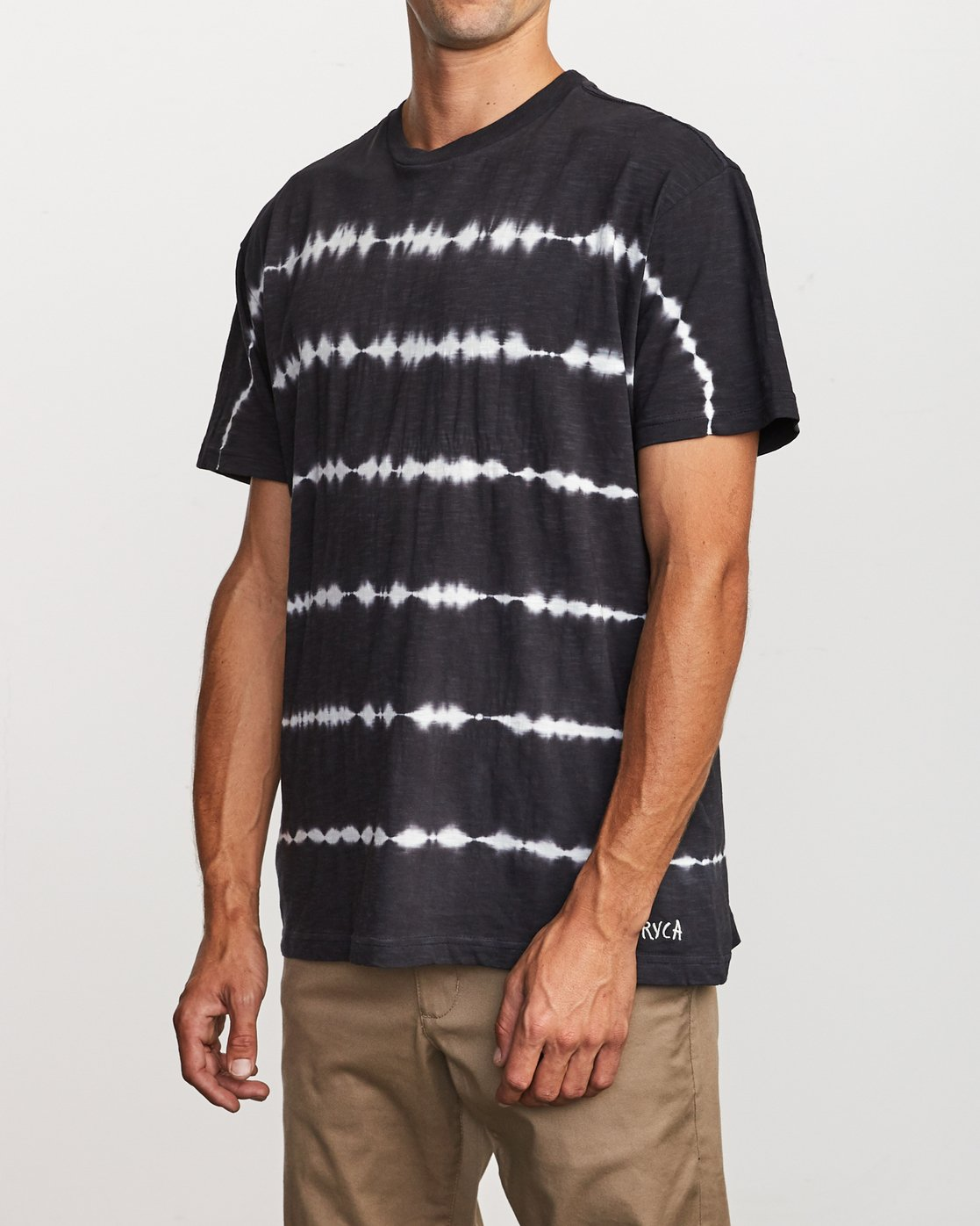 3 Rail Stripe Knit T-Shirt Black M905VRRS RVCA