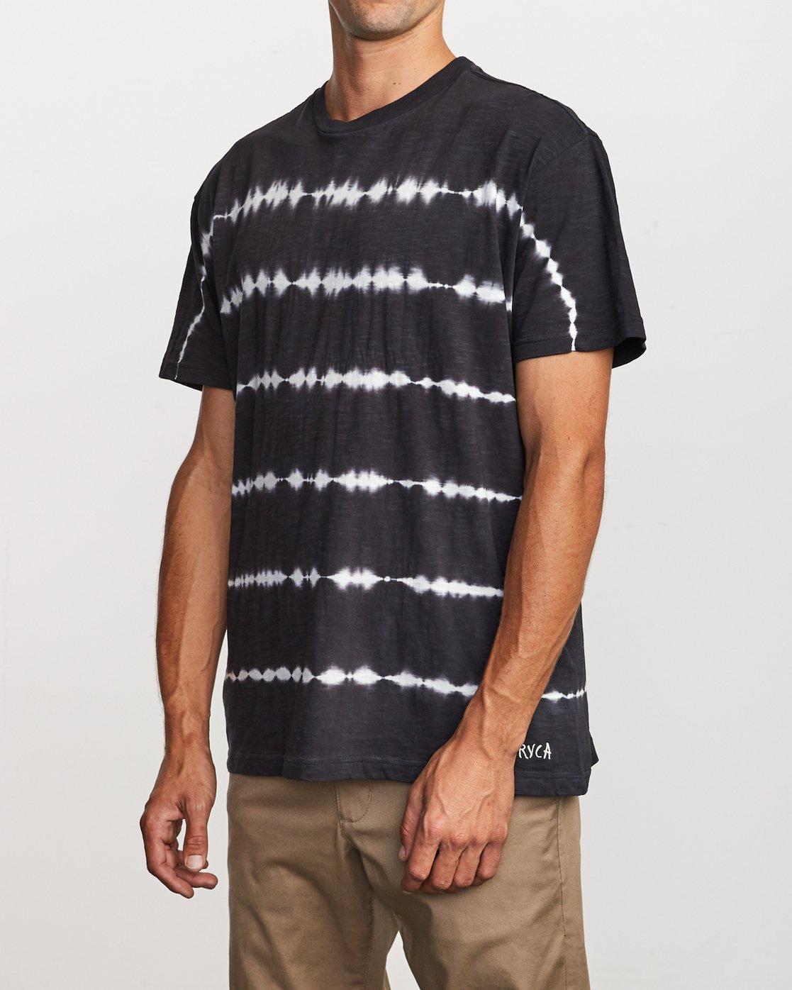 3 Rail Stripe Knit T-Shirt Black M905VRRS RVCA