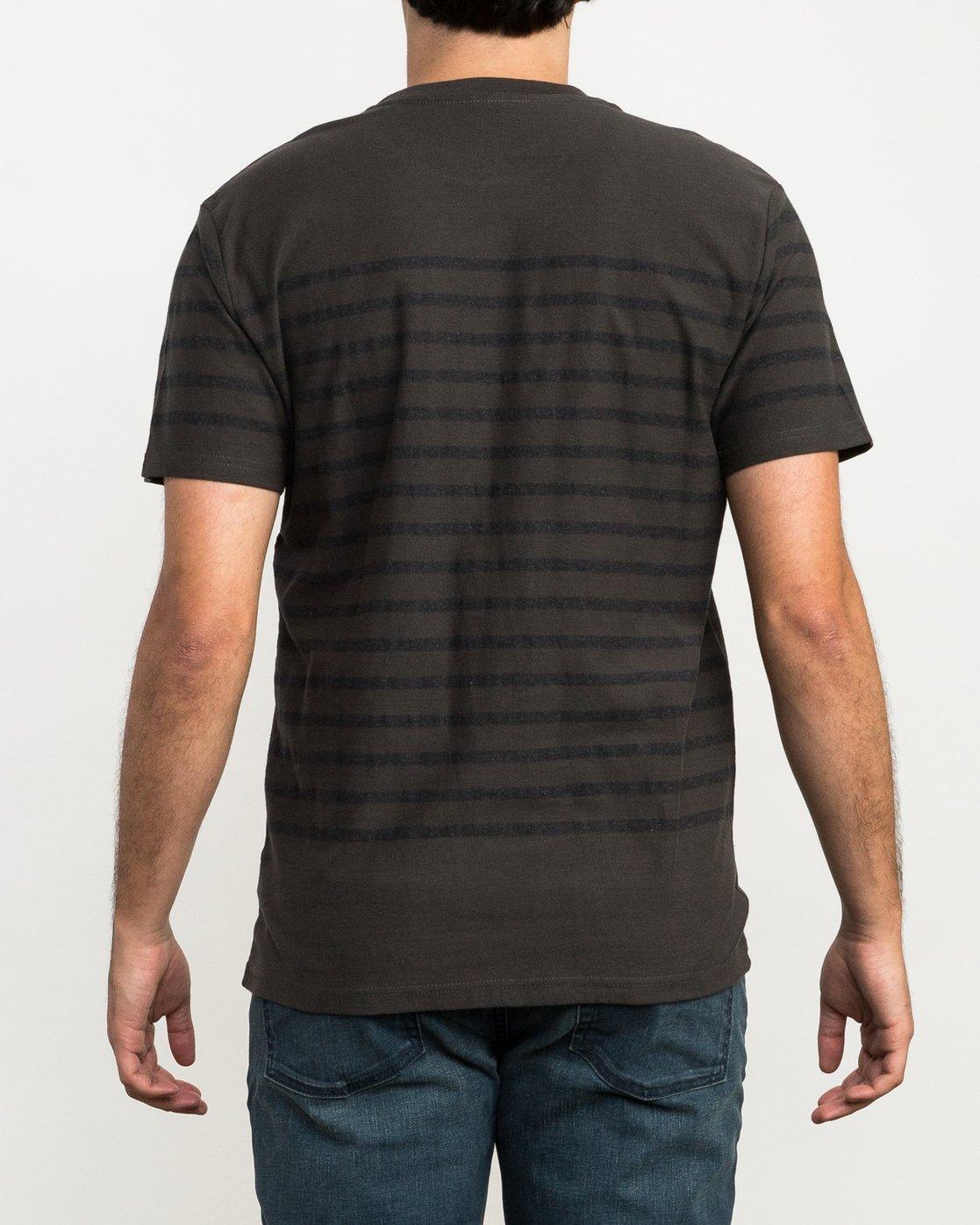 2 Dean Stripe Knit T-Shirt Black M906QRDS RVCA
