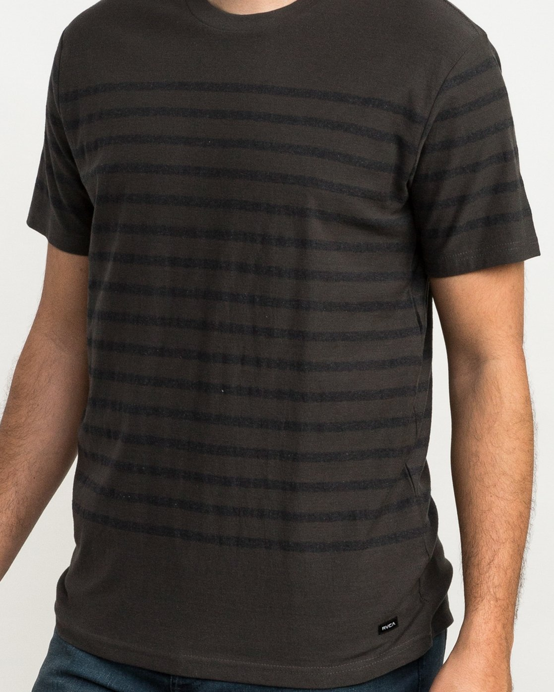 3 Dean Stripe Knit T-Shirt Black M906QRDS RVCA