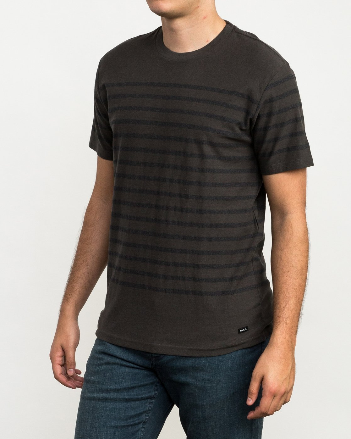 1 Dean Stripe Knit T-Shirt Black M906QRDS RVCA