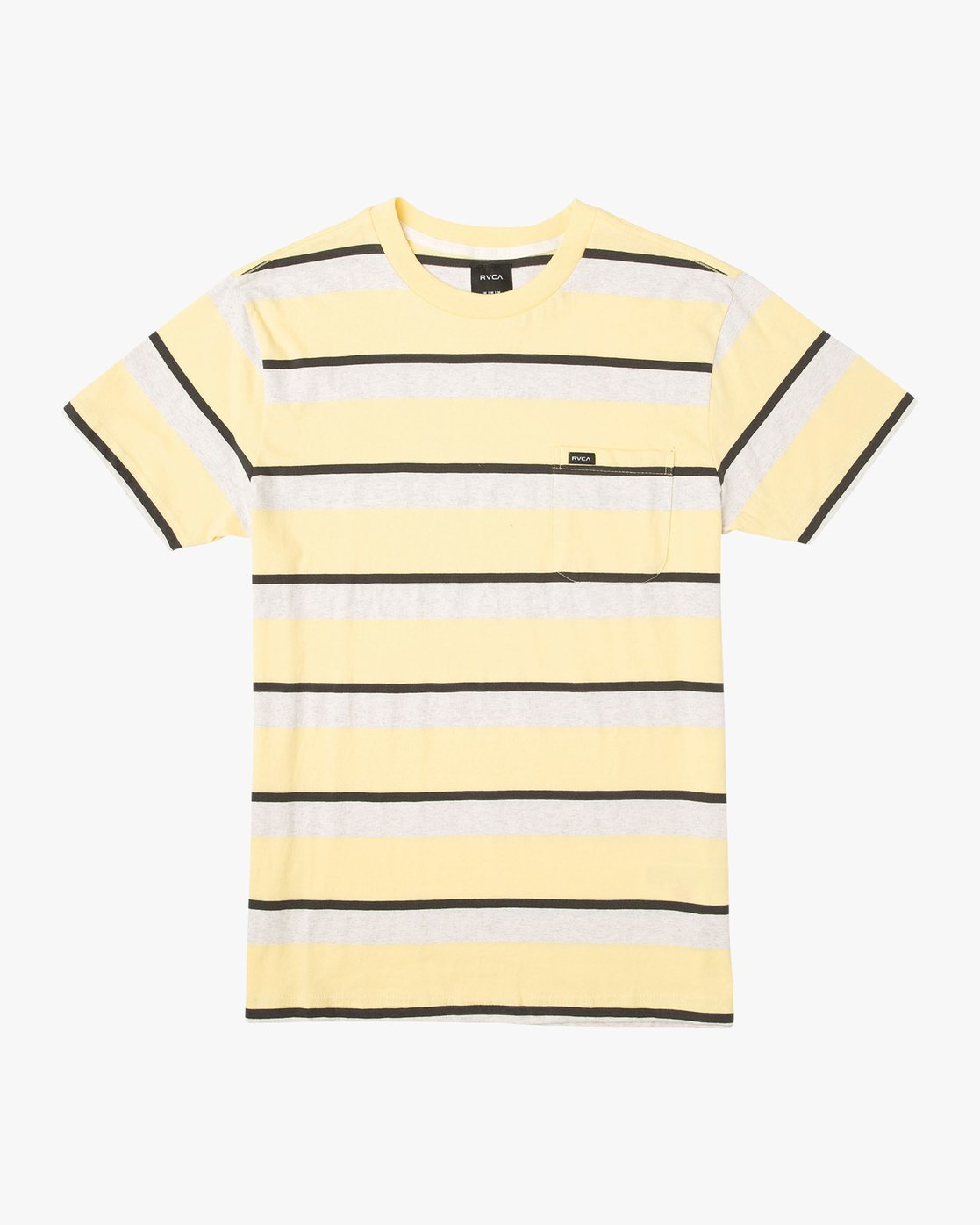 0 Fjords Stripe Knit Shirt Yellow M906URFS RVCA