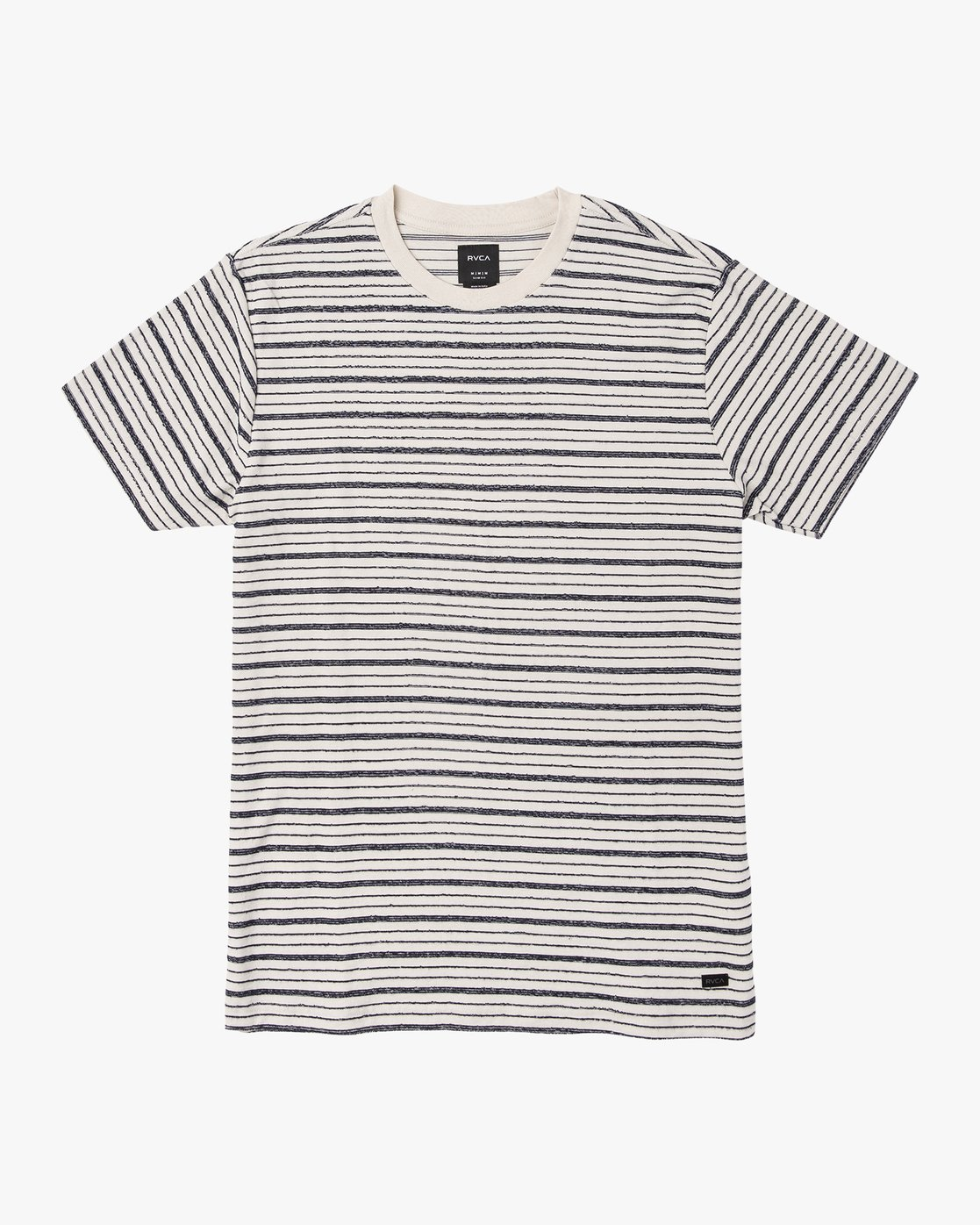 0 Amenity Stripe Knit T-Shirt Silver M906VRAT RVCA