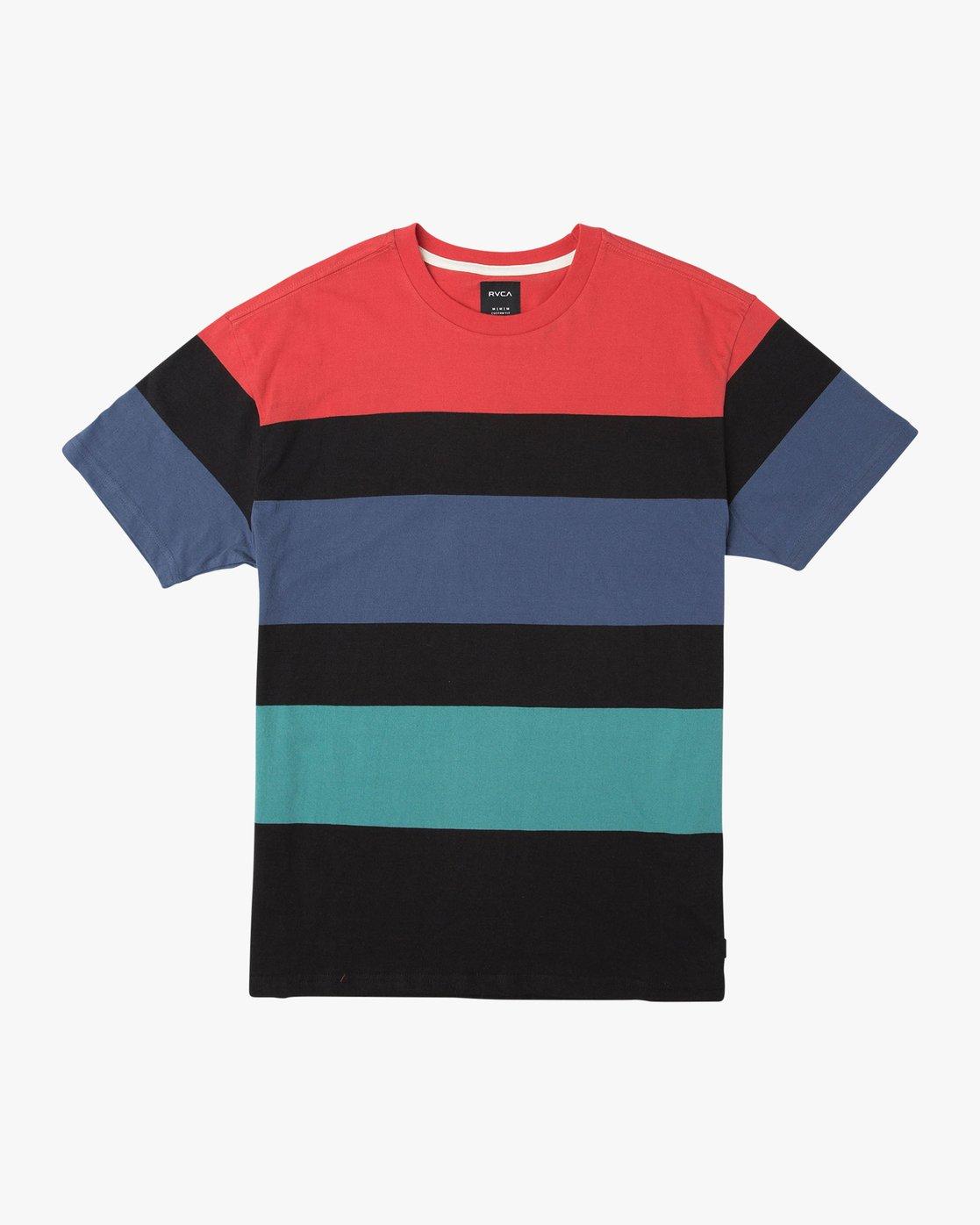 0 Surrender Stripe Knit Shirt Multicolor M907URSS RVCA