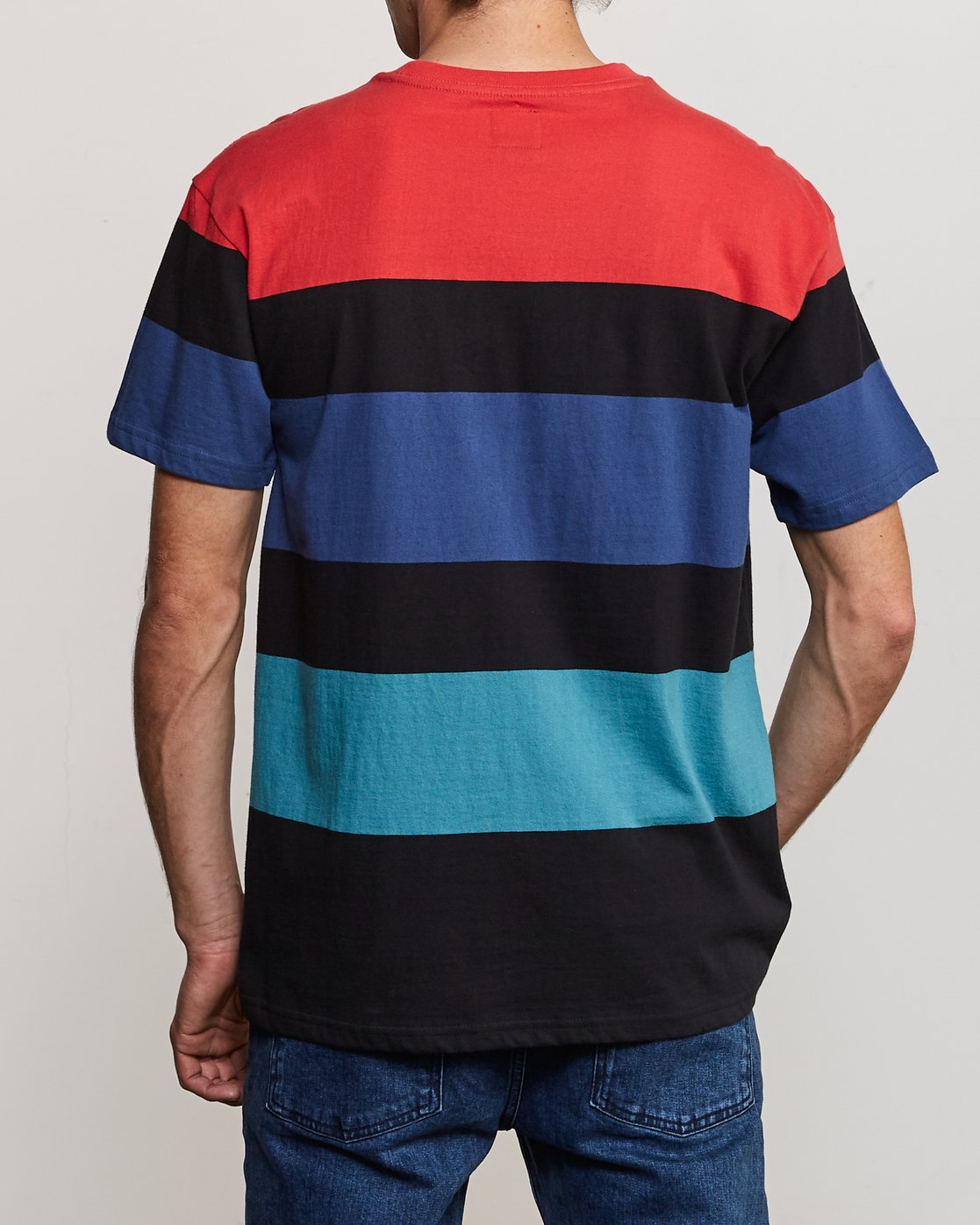 4 Surrender Stripe Knit Shirt Multicolor M907URSS RVCA