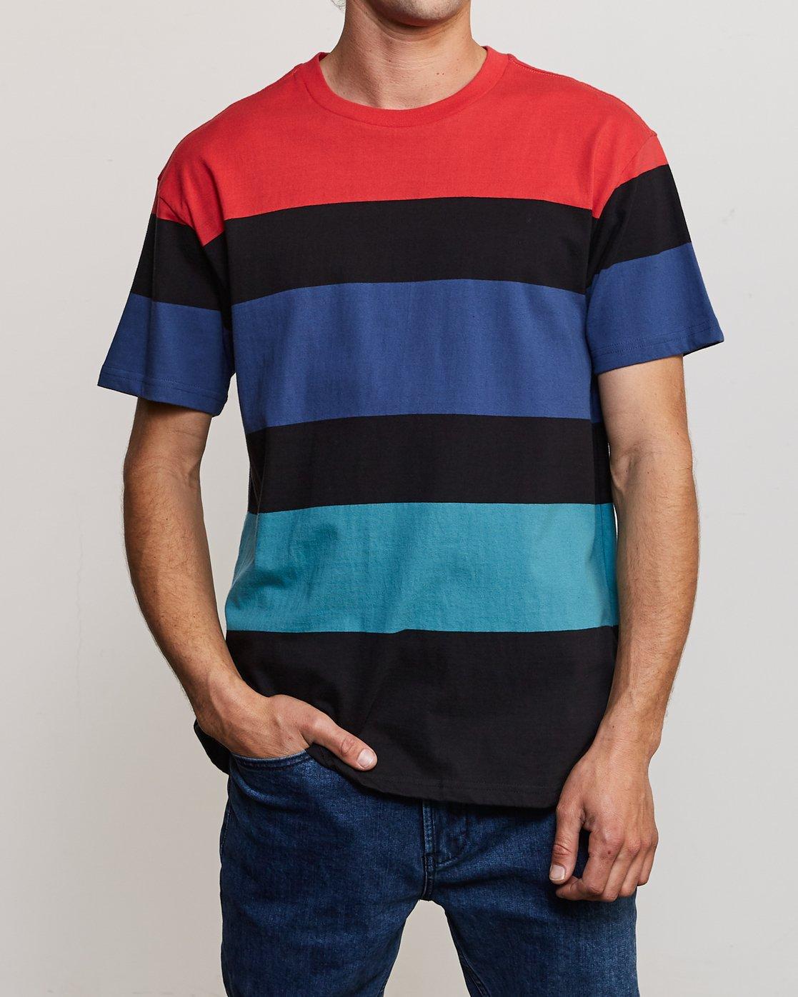 2 Surrender Stripe Knit Shirt Multicolor M907URSS RVCA
