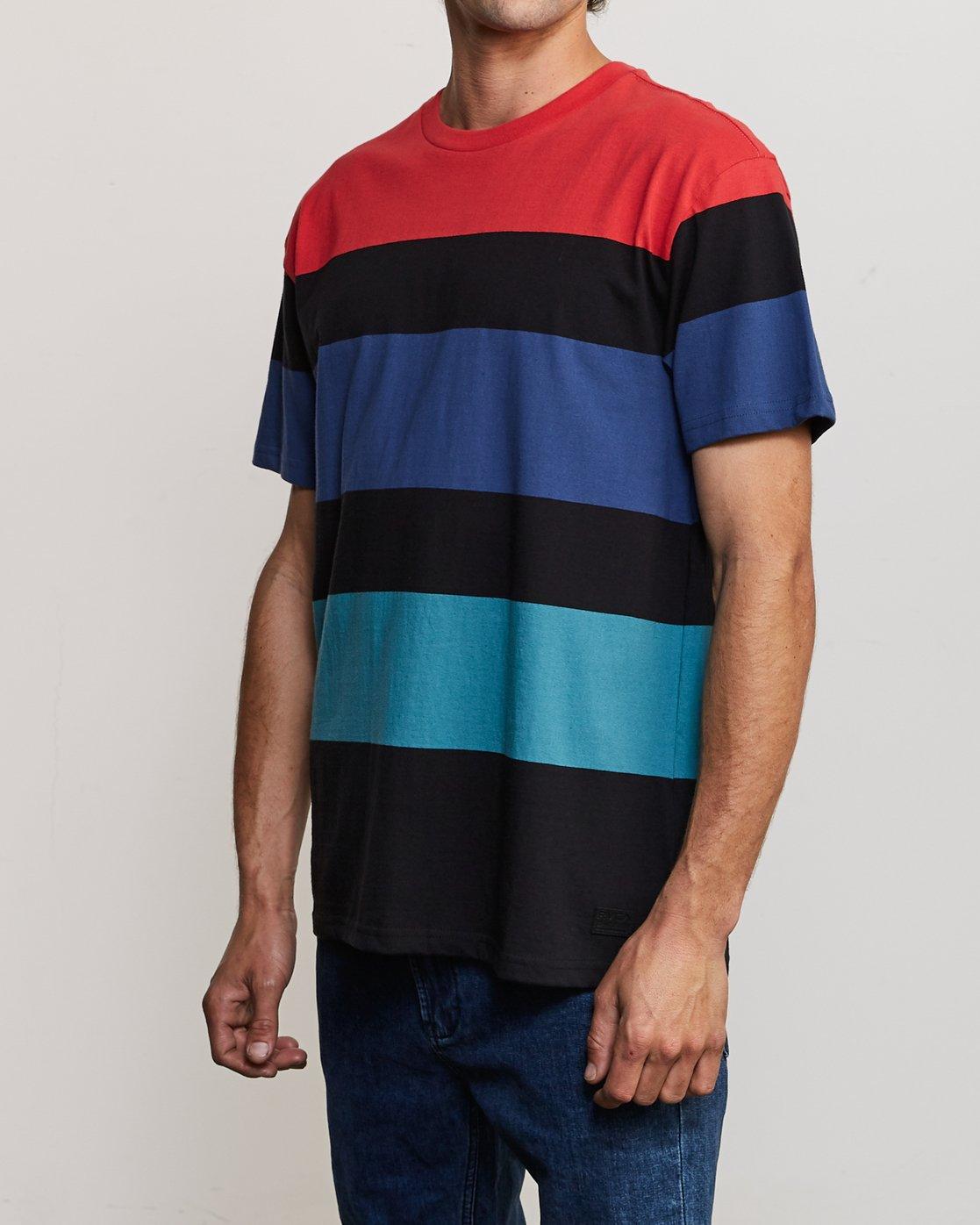 3 Surrender Stripe Knit Shirt Multicolor M907URSS RVCA