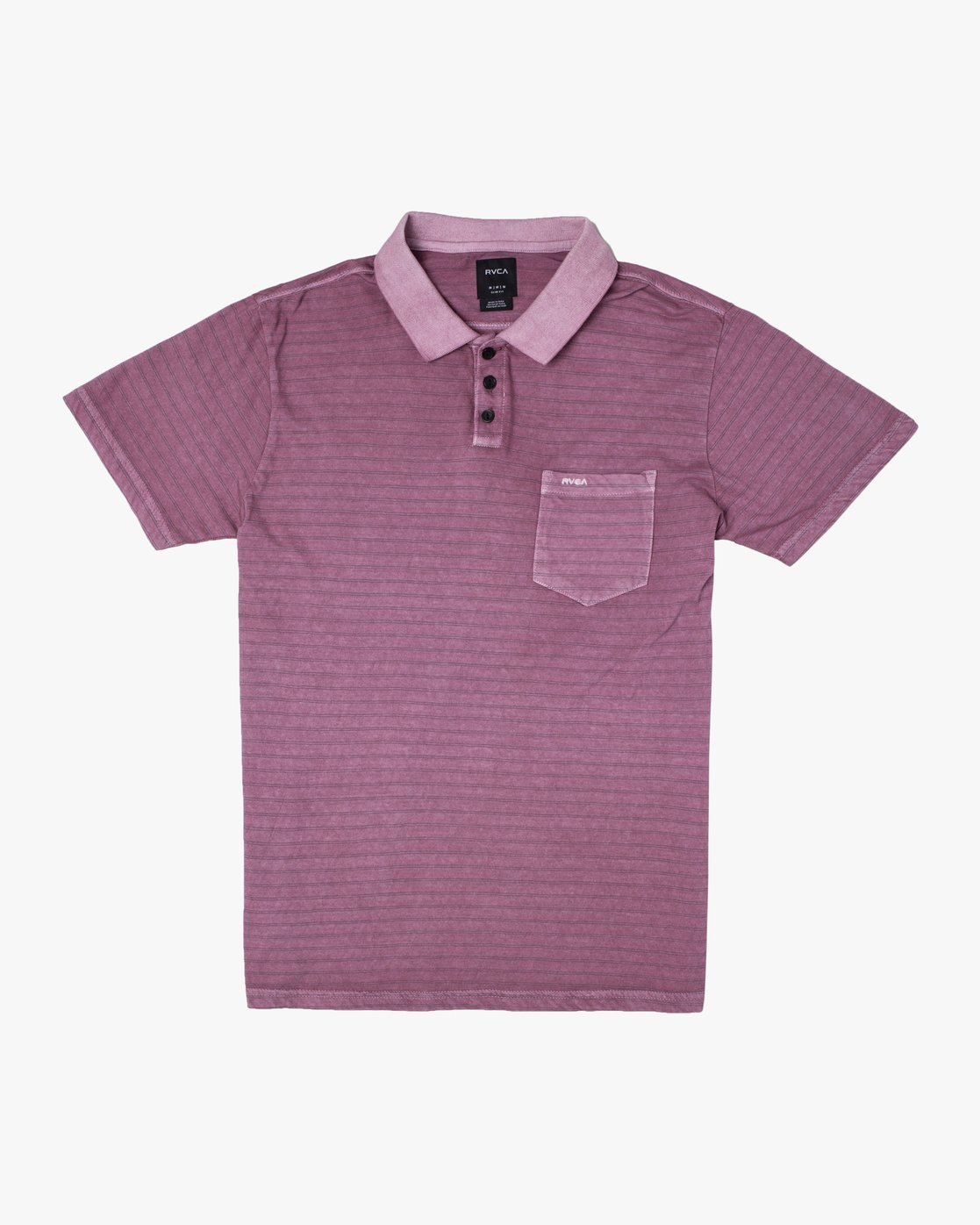 0 PTC STRIPE POLO SHORT SLEEVE SHIRT Purple M9092RPS RVCA
