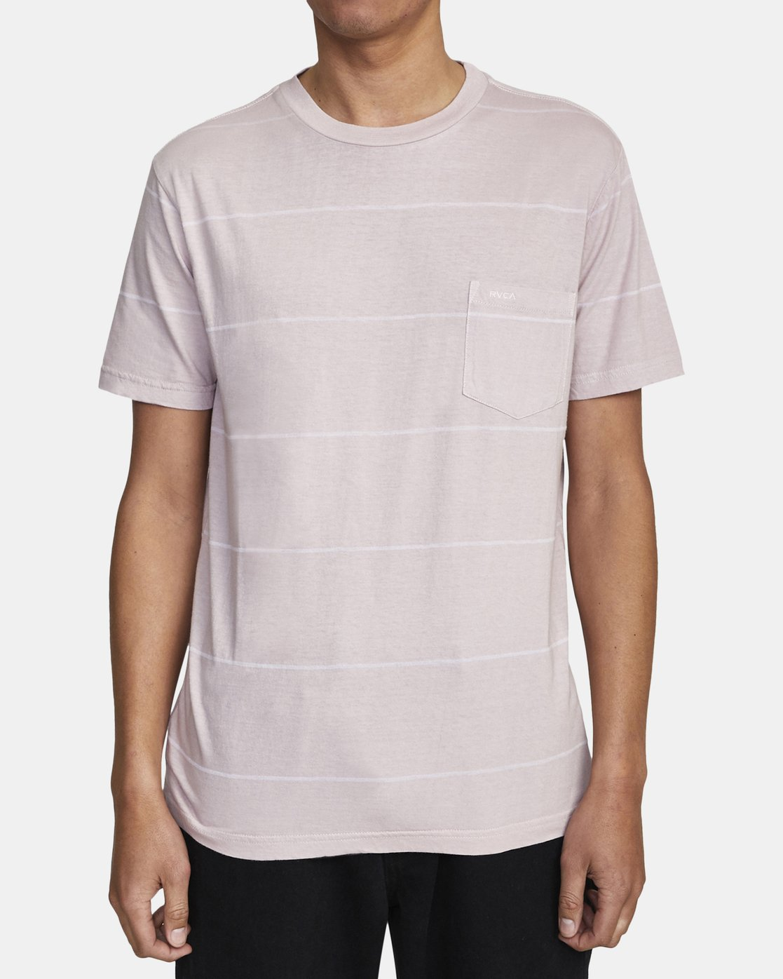 5 PTC STRIPE II SHORT SLEEVE TEE Grey M9093RPS RVCA