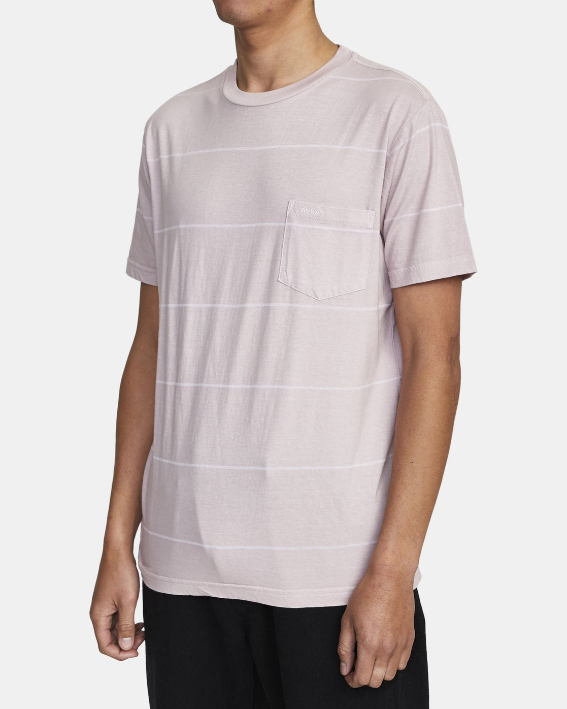 4 PTC STRIPE II SHORT SLEEVE TEE Grey M9093RPS RVCA