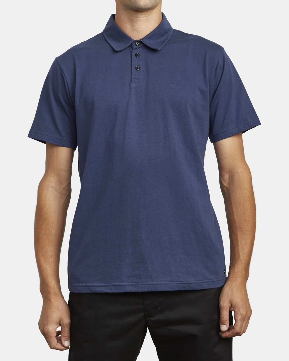 2 SURE THING III POLO SHIRT Blue M9101RST RVCA