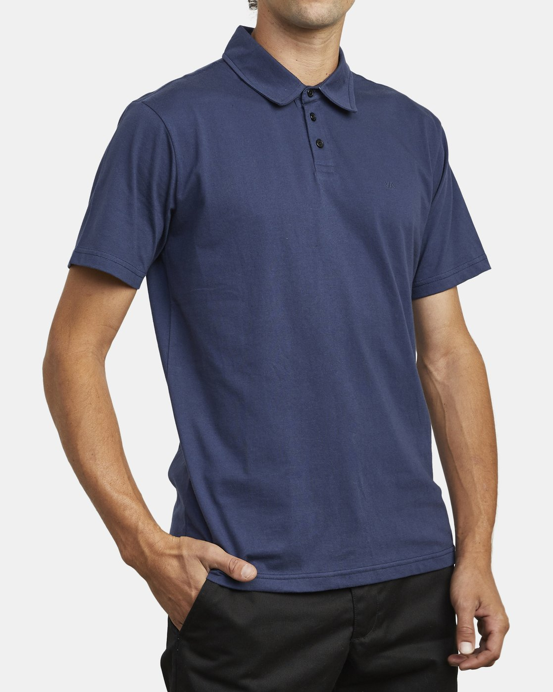 5 SURE THING III POLO SHIRT Blue M9101RST RVCA