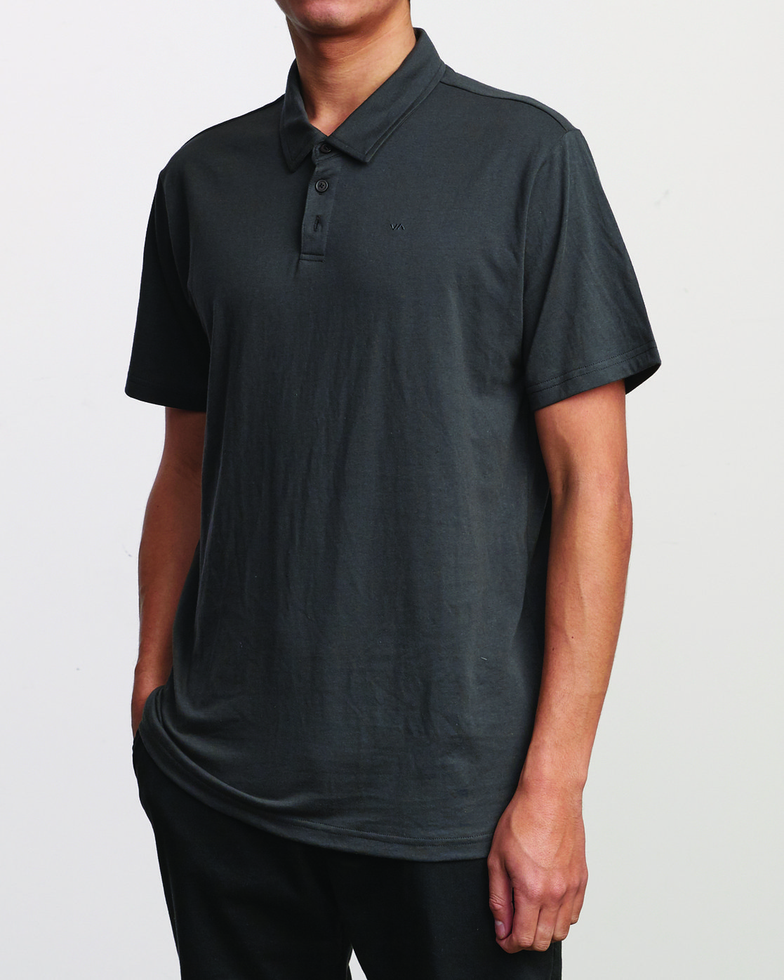 2 SURE THING III POLO SHIRT Black M9101RST RVCA