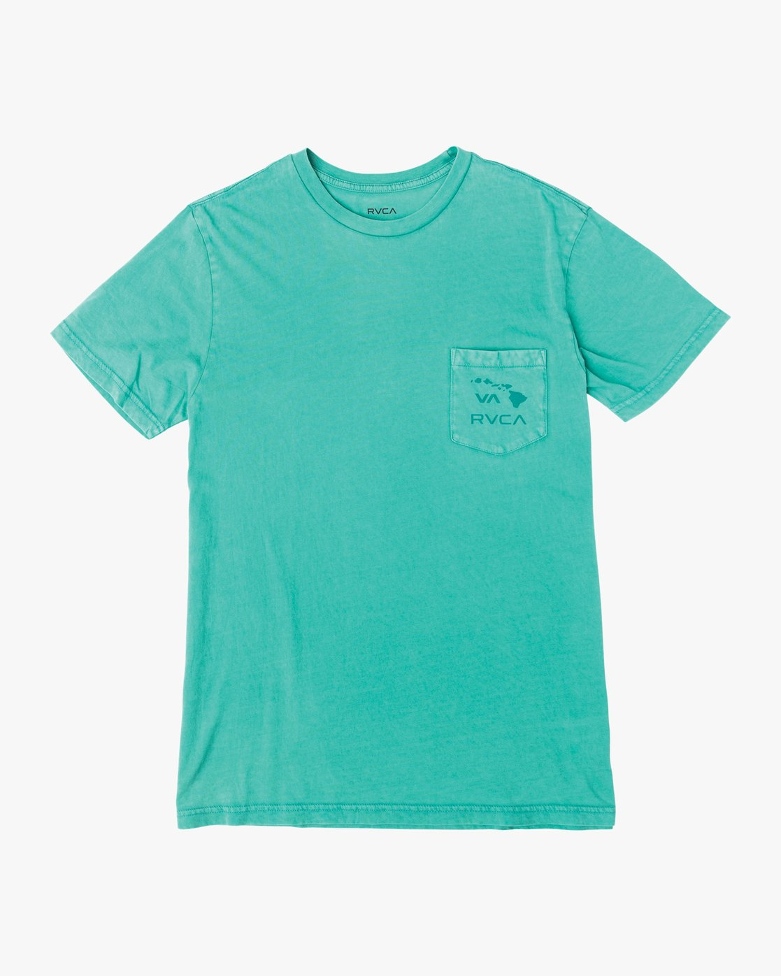 0 Islands PTC Fade Pocket T-Shirt Green M912NRIP RVCA