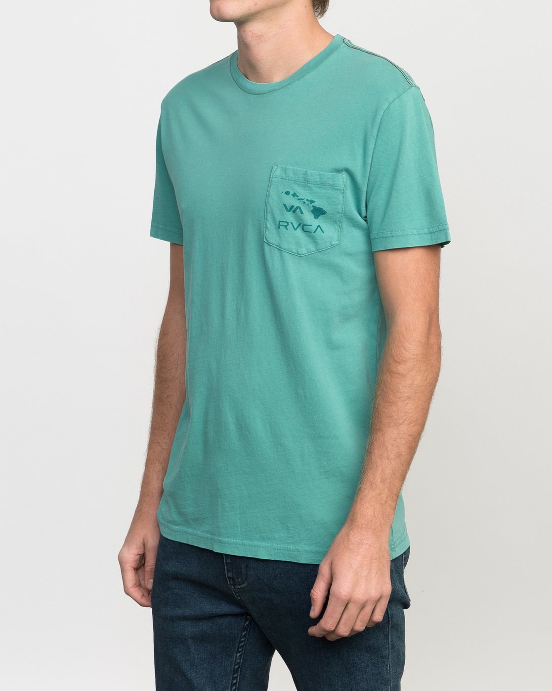 2 Islands PTC Fade Pocket T-Shirt Green M912NRIP RVCA