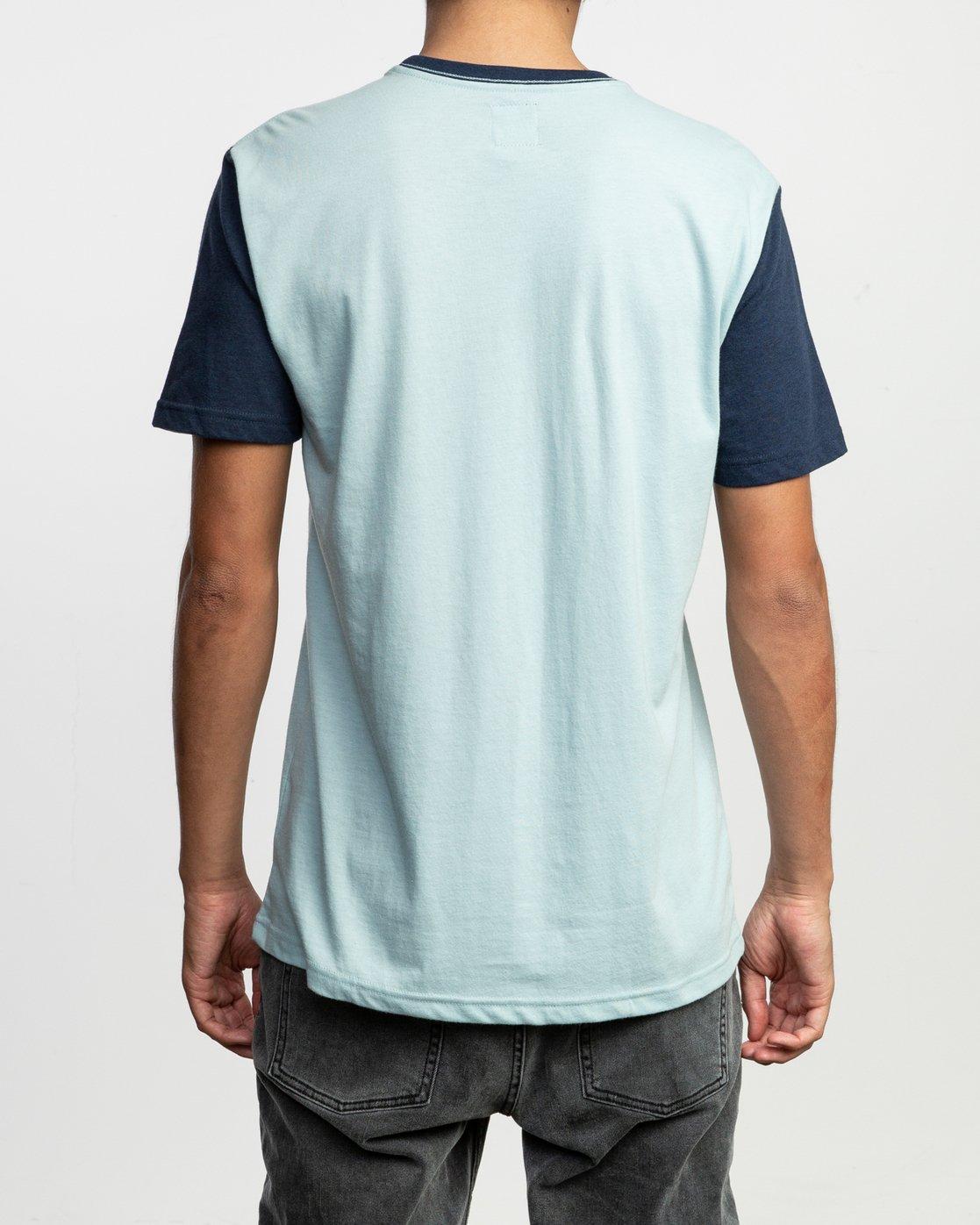 3 Pick Up II Knit T-Shirt Blue M913QRPU RVCA