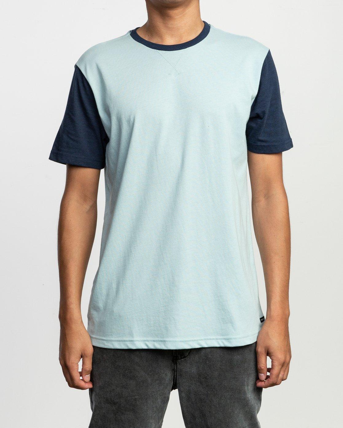 1 Pick Up II Knit T-Shirt Blue M913QRPU RVCA