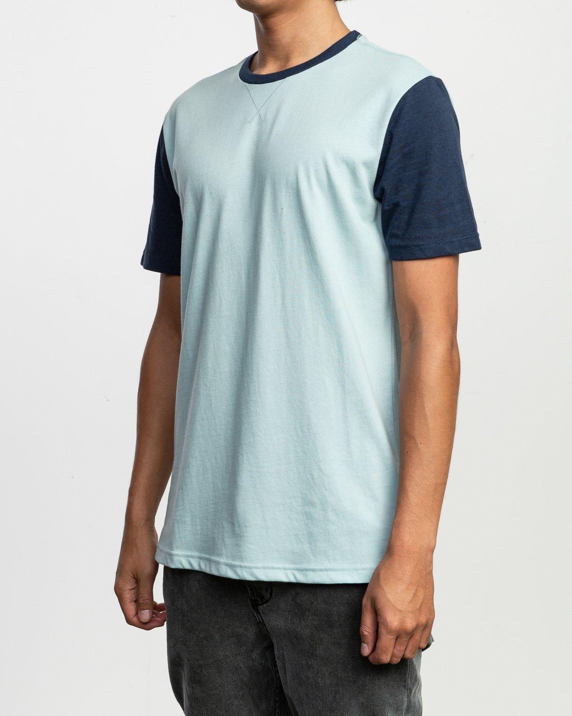 2 Pick Up II Knit T-Shirt Blue M913QRPU RVCA