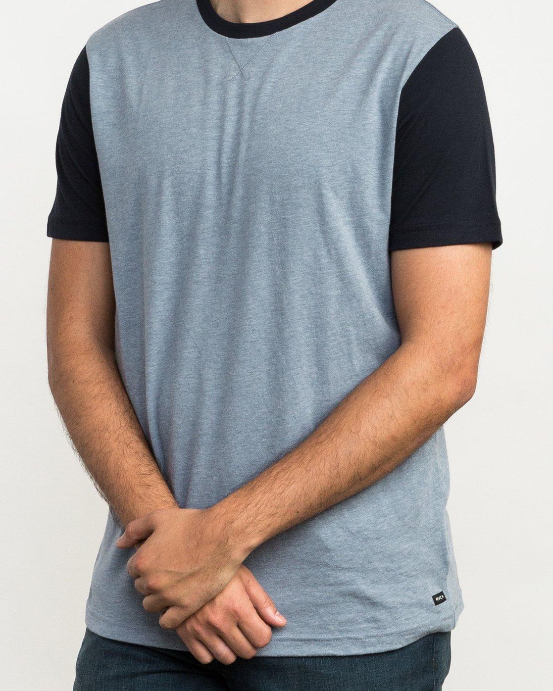 4 Pick Up II Knit T-Shirt Grey M913QRPU RVCA