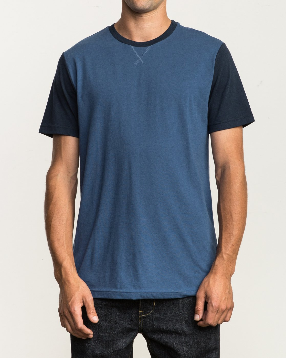 1 Pick Up II Knit T-Shirt Blue M913QRPU RVCA