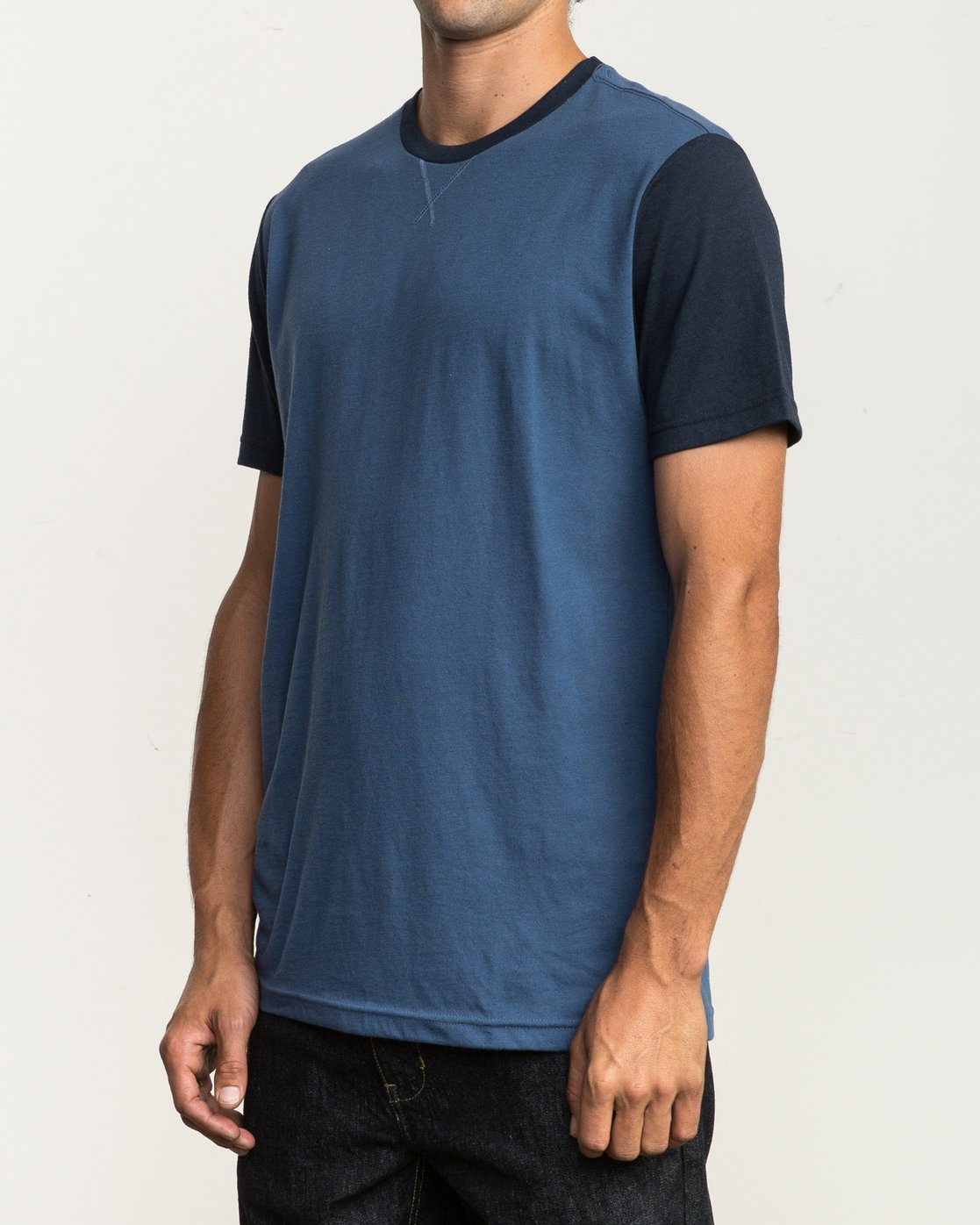 2 Pick Up II Knit T-Shirt Blue M913QRPU RVCA