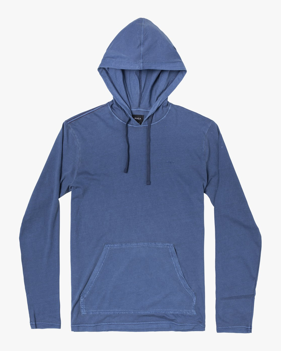 1 PTC PIGMENT HOODED LONG SLEEVE TEE Blue M915PRPH RVCA