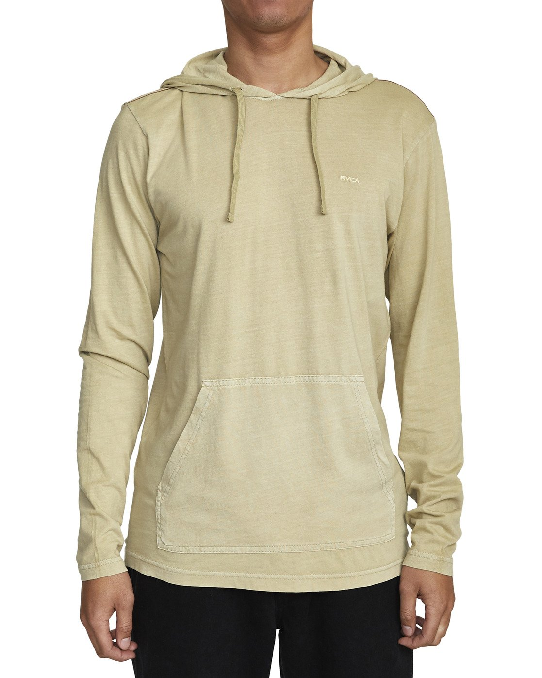 3 PTC PIGMENT HOODED LONG SLEEVE TEE Beige M915PRPH RVCA