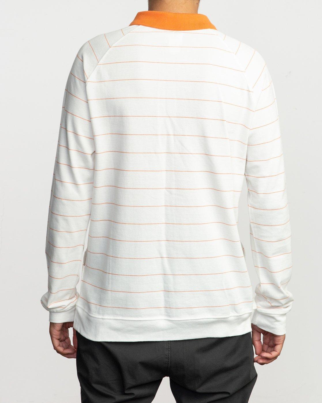 4 First Date Neutral Polo Shirt White M917QRFD RVCA